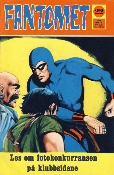 Cover for Fantomet (Romanforlaget, 1966 series) #22/1971