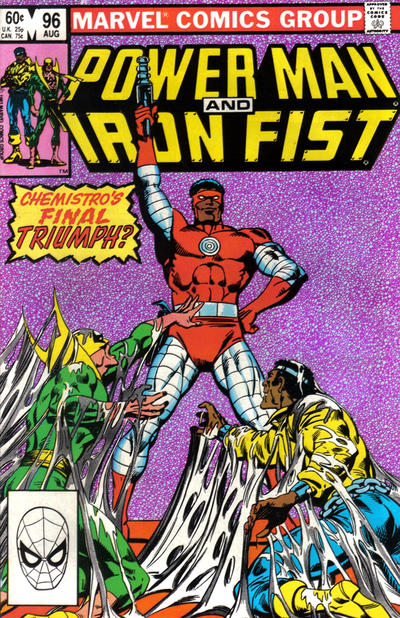 Cover for Power Man and Iron Fist (Marvel, 1981 series) #96 [newsstand 75¢ edition]
