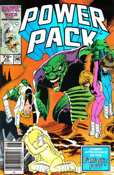 Cover for Power Pack (Marvel, 1984 series) #23 [Newsstand Edition]