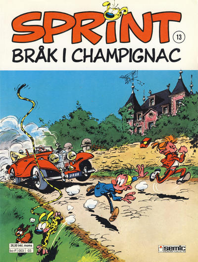 Cover for Sprint (1986 series) #13 - Brk i Champignac [3. opplag]