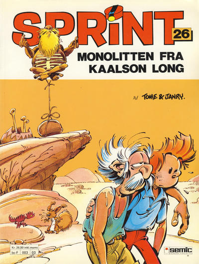 Cover for Sprint (1986 series) #26 - Monolitten fra Kaalson Long [2. opplag]