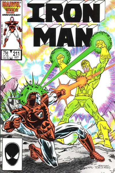 Cover for Iron Man (1968 series) #211 [Newsstand Edition]