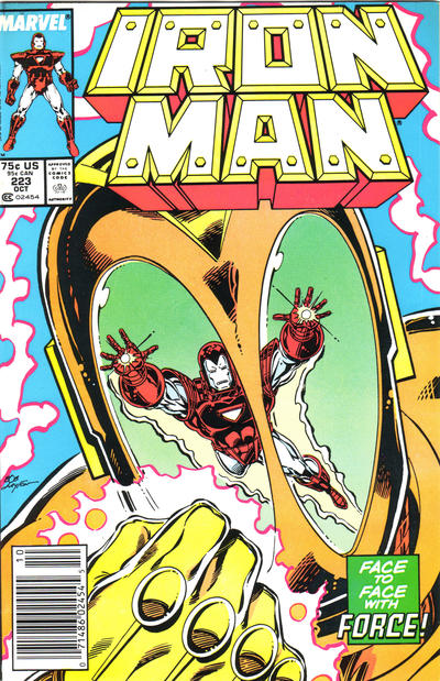 Cover for Iron Man (Marvel, 1968 series) #223 [Newsstand Edition]