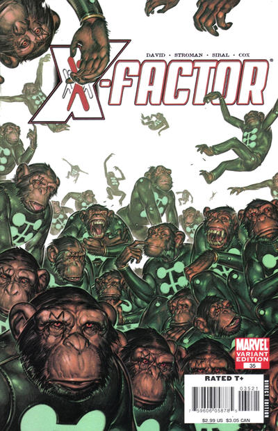 Cover for X-Factor (Marvel, 2006 series) #35 [Marvel Apes Variant Edition]