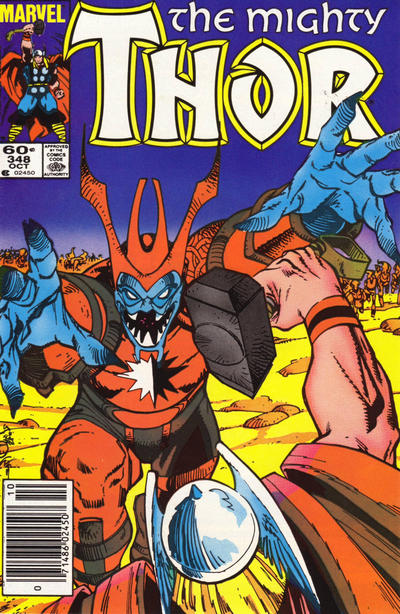 Cover for Thor (Marvel, 1966 series) #348 [Newsstand Edition]