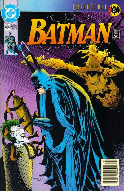 Cover for Batman (DC, 1940 series) #494 [Direct]