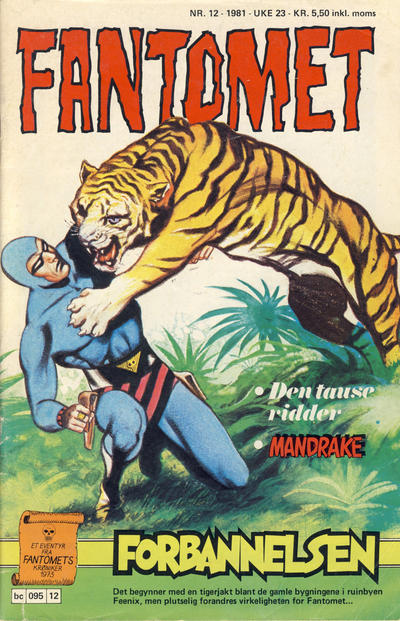 Cover for Fantomet (Semic, 1976 series) #12/1981