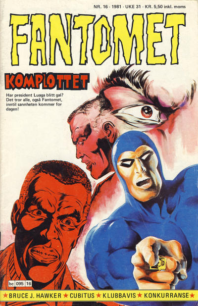 Cover for Fantomet (Semic, 1976 series) #16/1981