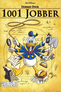 Cover Thumbnail for Donald Duck Tema pocket; Walt Disney's Tema pocket (Egmont Serieforlaget, 1997 series) #Donald Duck 1001 jobber