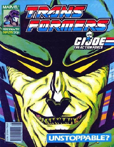 Cover for Transformers (Marvel UK, 1984 series) #295