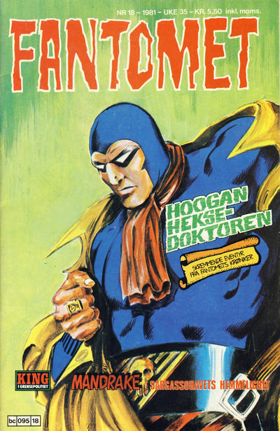 Cover for Fantomet (1976 series) #18/1981