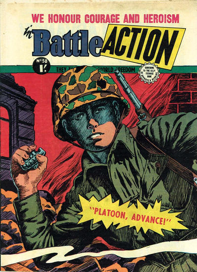 Cover for Battle Action (Horwitz, 1954 ? series) #58