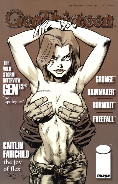 Cover for Gen 13 (1994 series) #1 [Lin-GEN-re Cover 1-G]