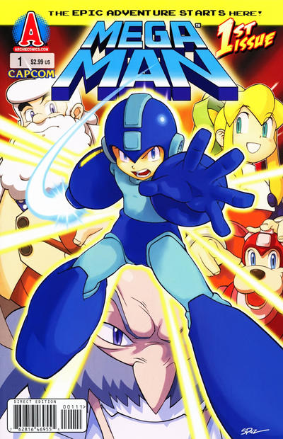 Cover for Mega Man (Archie, 2011 series) #1