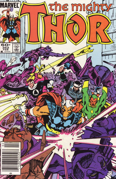 Cover for Thor (Marvel, 1966 series) #352 [Newsstand]