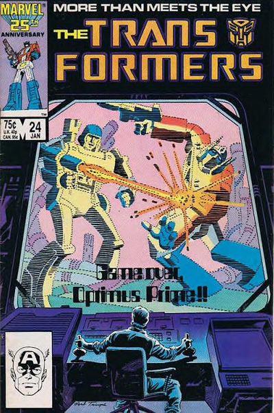 Cover for The Transformers (1984 series) #24 [Newsstand]