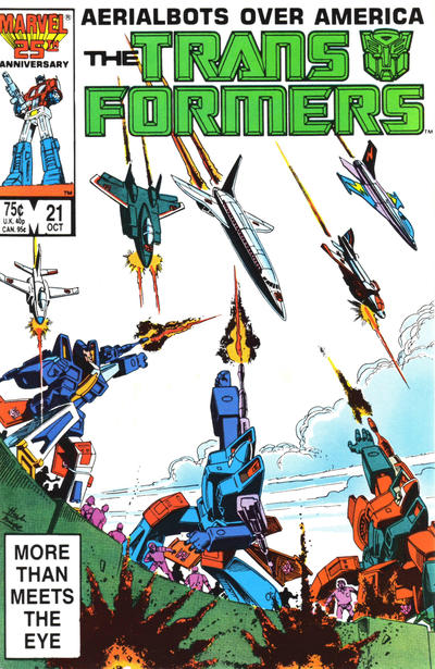 Cover for The Transformers (1984 series) #21 [Direct]