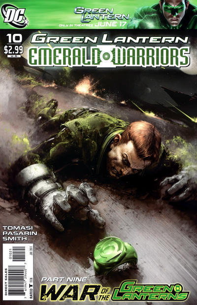 Cover for Green Lantern: Emerald Warriors (DC, 2010 series) #10 [Clayton Crain Variant Cover]