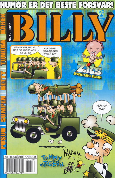 Cover for Billy (Egmont Serieforlaget, 1998 series) #10/2011