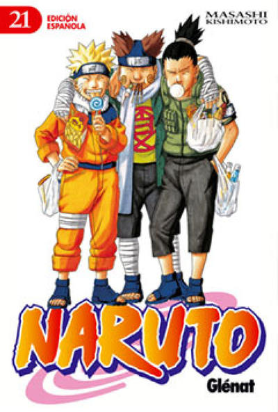 Cover for Naruto (Ediciones Glénat, 2002 series) #21