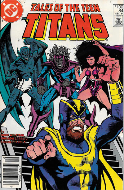 Cover for Tales of the Teen Titans (DC, 1984 series) #84 [Newsstand]