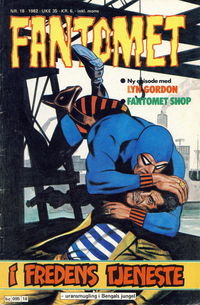 Cover for Fantomet (Semic, 1976 series) #18/1982