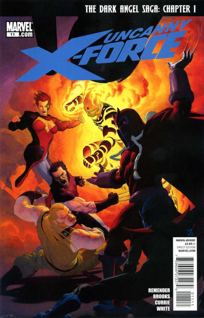 Cover for Uncanny X-Force (2010 series) #11 [2nd Printing]