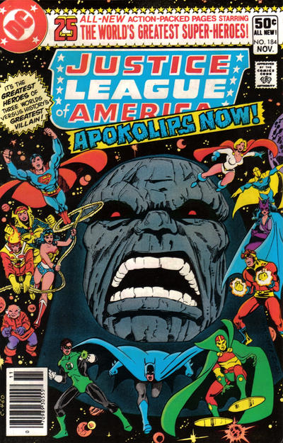 Cover for Justice League of America (DC, 1960 series) #184 [Newsstand]