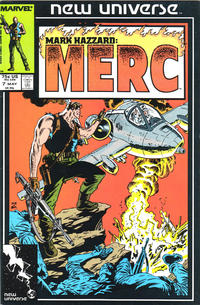 Cover Thumbnail for Mark Hazzard: Merc (Marvel, 1986 series) #7 [Direct]