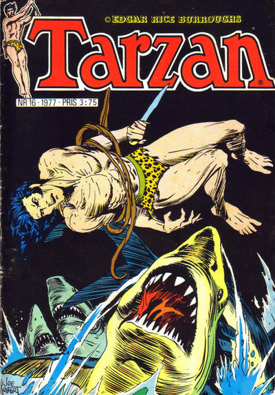 Cover for Tarzan (Atlantic Forlag, 1977 series) #16/1977