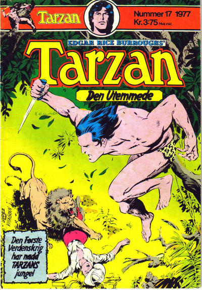 Cover for Tarzan (Atlantic Forlag, 1977 series) #17/1977