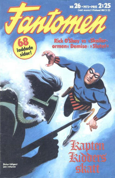 Cover for Fantomen (Semic, 1963 series) #26/1973