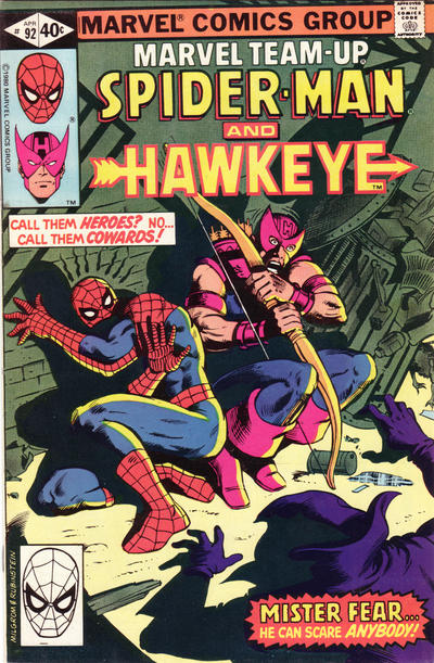 Cover for Marvel Team-Up (Marvel, 1972 series) #92 [British price variant.]