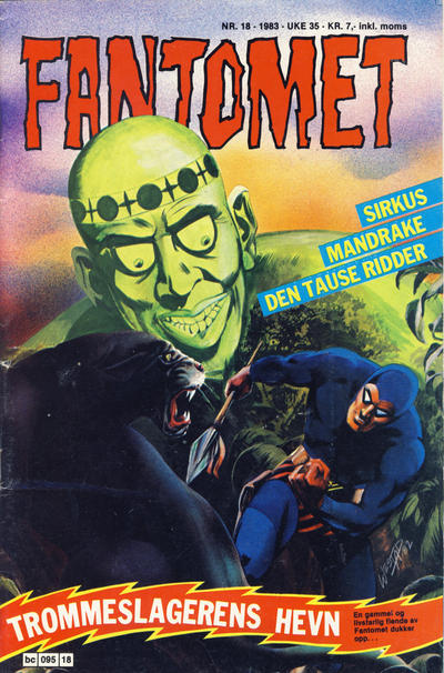 Cover for Fantomet (Semic, 1976 series) #18/1983