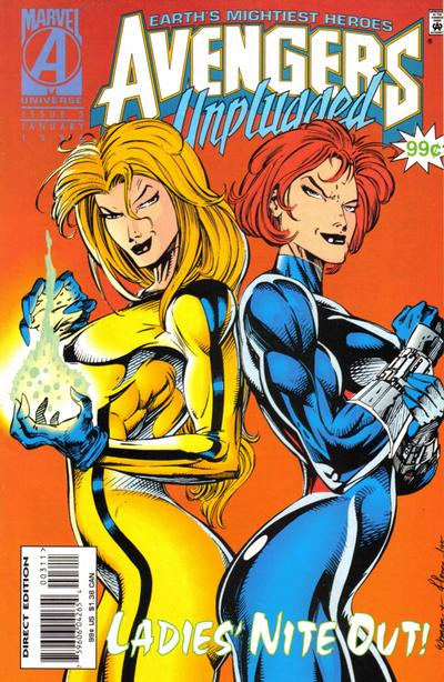 Cover for Avengers Unplugged (Marvel, 1995 series) #3 [Direct Edition]