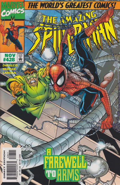 Cover for The Amazing Spider-Man (Marvel, 1963 series) #428 [Direct Edition]