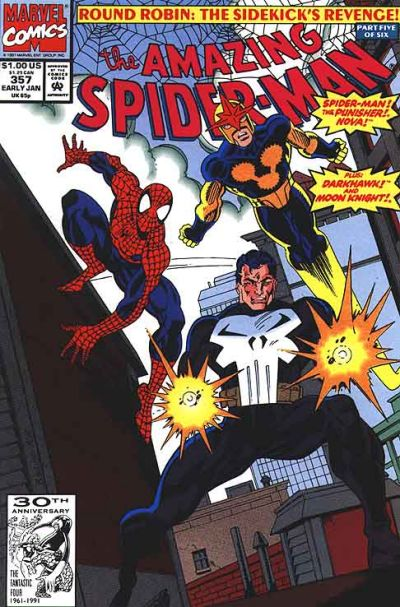 Cover for The Amazing Spider-Man (Marvel, 1963 series) #357 [Direct Edition]
