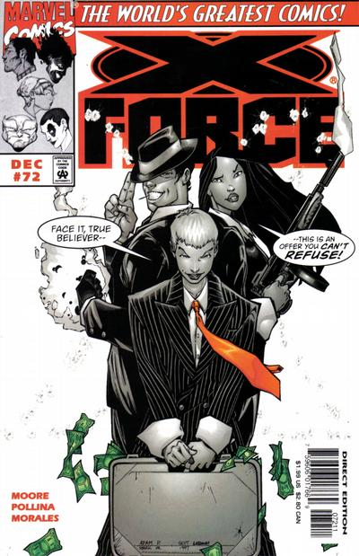 Cover for X-Force (Marvel, 1991 series) #72 [Direct Edition]