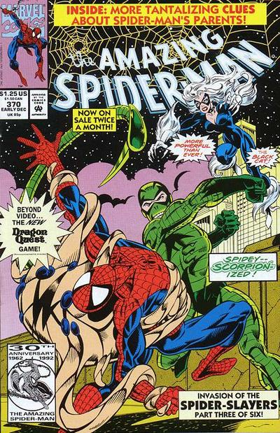 Cover for The Amazing Spider-Man (Marvel, 1963 series) #370 [Direct Edition]