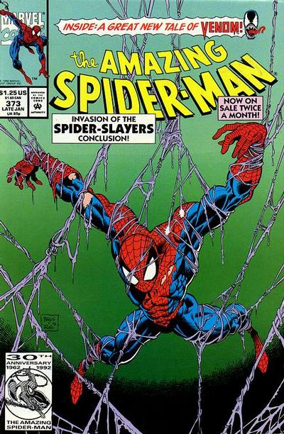 Cover for The Amazing Spider-Man (Marvel, 1963 series) #373 [Newsstand Edition]