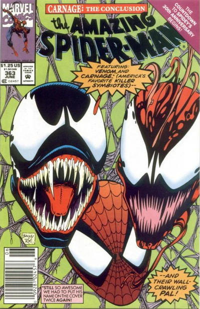 Cover for The Amazing Spider-Man (Marvel, 1963 series) #363 [Direct Edition]