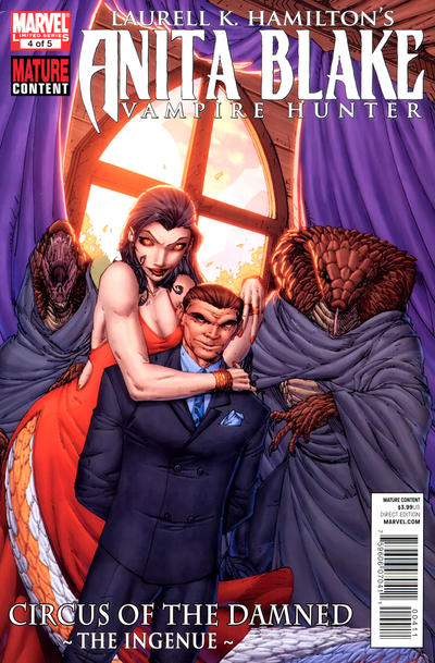 Cover for Anita Blake: Circus of the Damned - The Ingenue (Marvel, 2011 series) #4