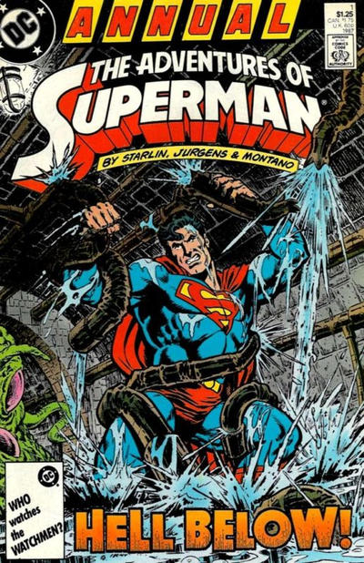 Cover for Adventures of Superman Annual (DC, 1987 series) #1 [Newsstand]
