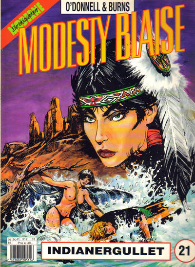 Cover for Modesty Blaise (Egmont Serieforlaget, 1998 series) #21 - Indianergullet