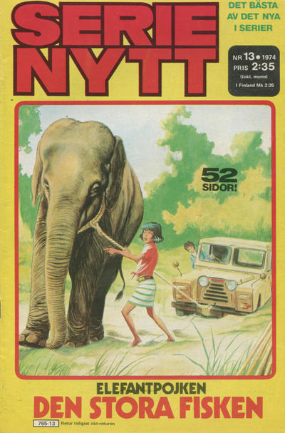 Cover for Serie-nytt [delas?] (Semic, 1970 series) #13/1974