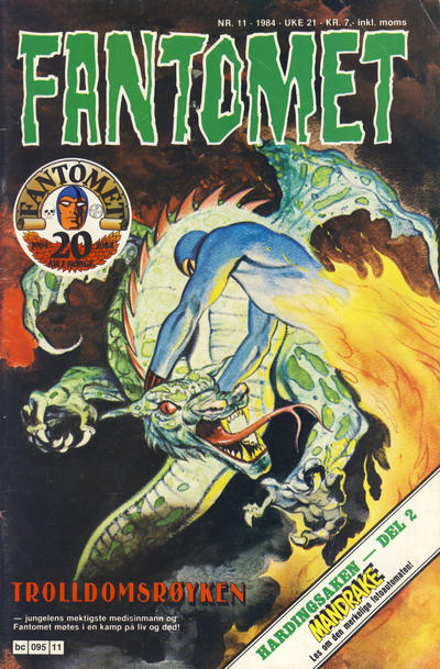 Cover for Fantomet (1976 series) #11/1984