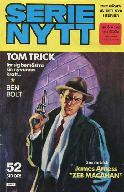 Cover for Serie-nytt [delas?] (Semic, 1970 series) #3/1980