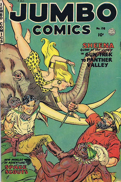 Cover for Jumbo Comics (1952 series) #158
