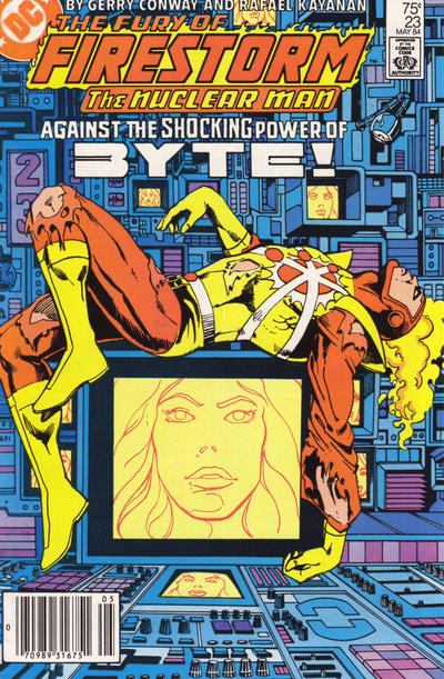 Cover for The Fury of Firestorm (DC, 1982 series) #23 [Direct]