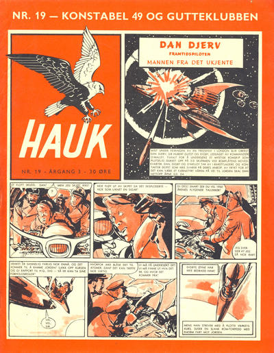 Cover for Hauk (Se-Bladene, 1955 series) #19/1957